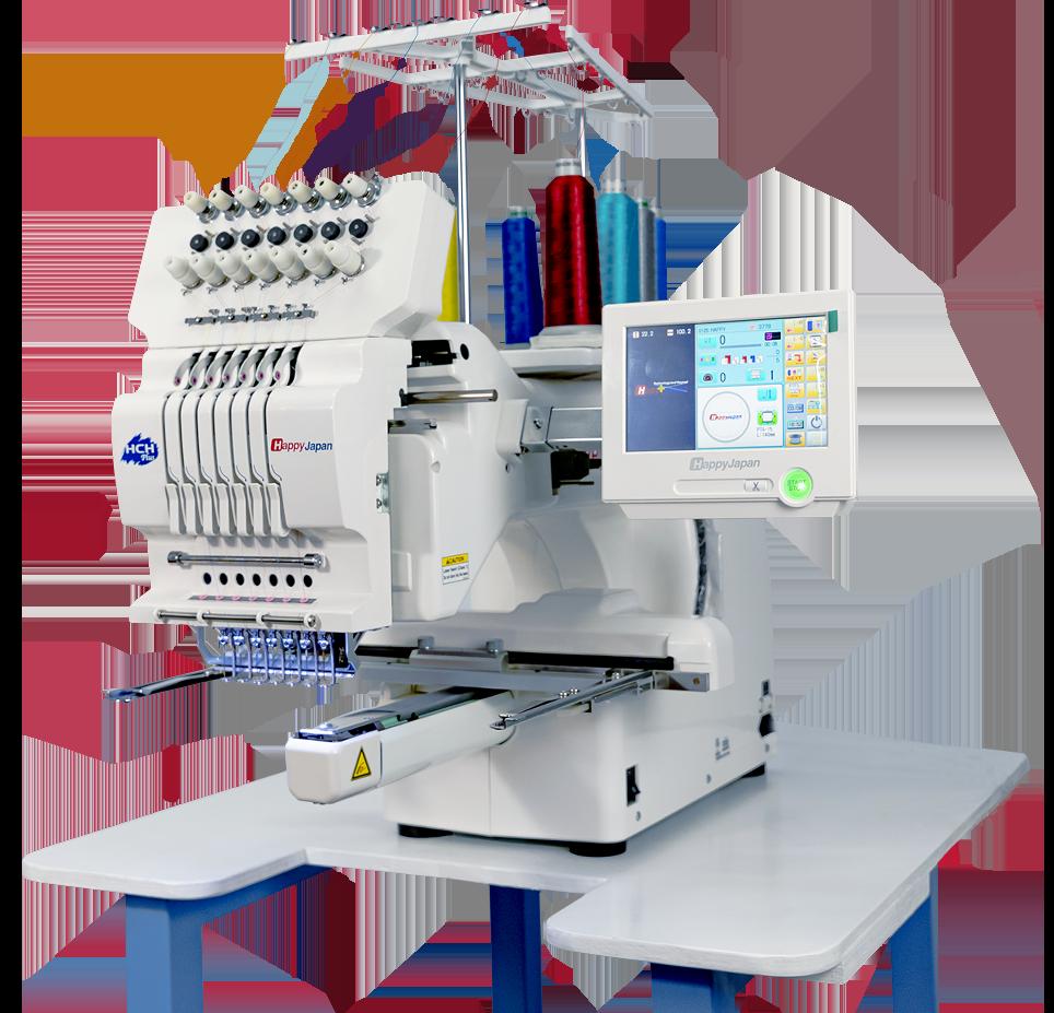 A HaappyJapan embroidery machine
