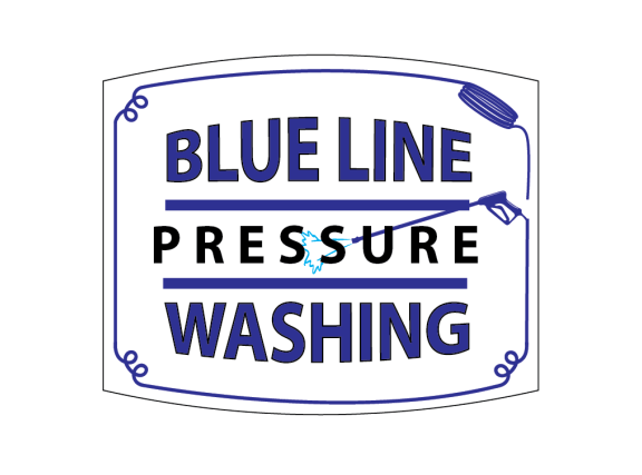 Blue line Pressure washing logo